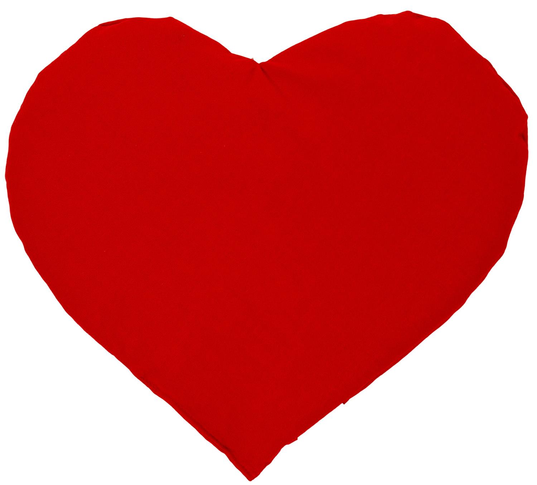 Coussin-bouillotte aux graines en forme de cœur