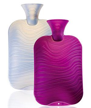 Wärmflaschen mit Wellen